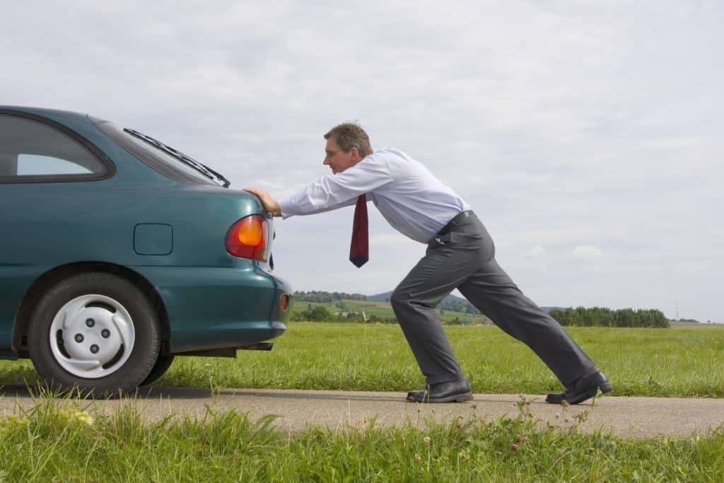 push-starting-car-low battery