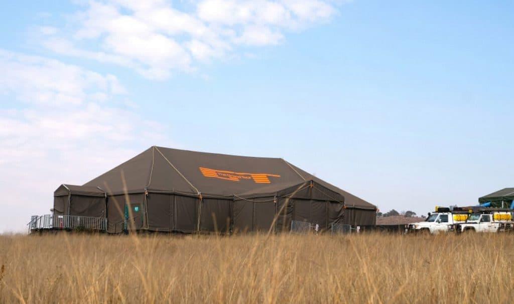 The studio scenes will be filmed in a tent