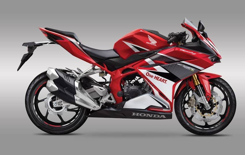 Spied motorcycle design looks similar to the Honda CBR250RR