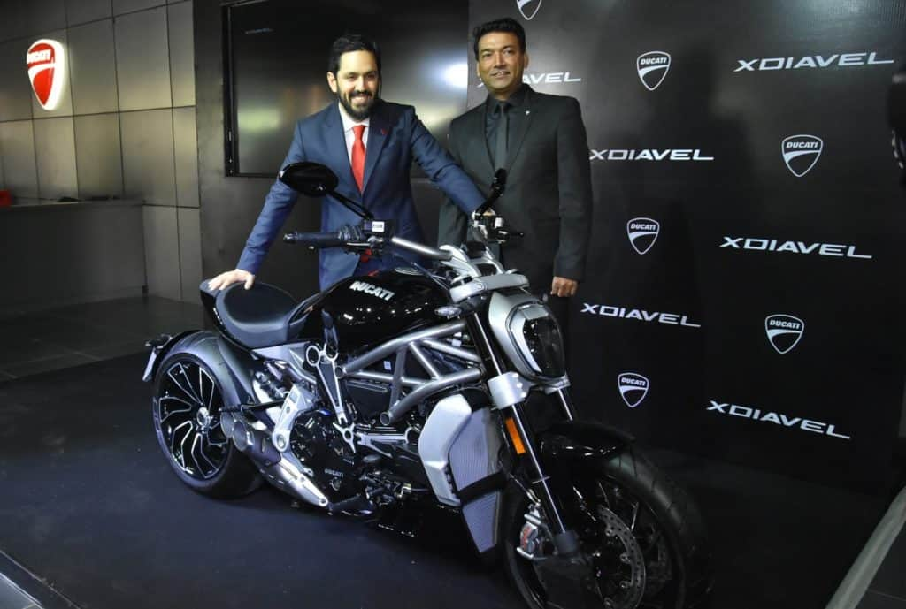Ravi Avlur, MD of Ducati India with Ajay Yadav, VP sales & marketing, AMP Group
