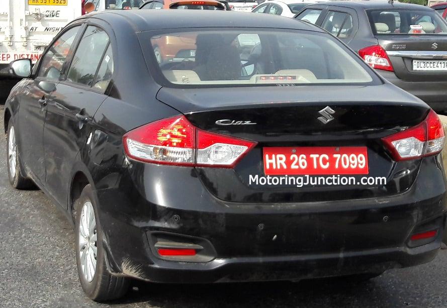 Maruti Ciaz Spied Rear Motoring Junction