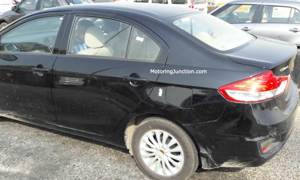 Maruti Ciaz Spied Side Motoring Junction