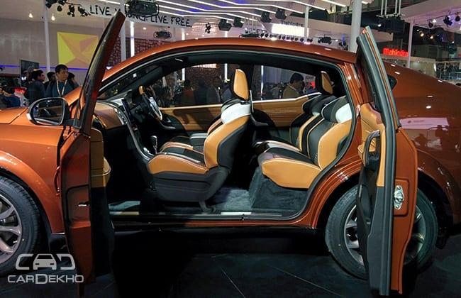 Mahindra XUV Aero Electric At 2016 Auto Expo suicide doors
