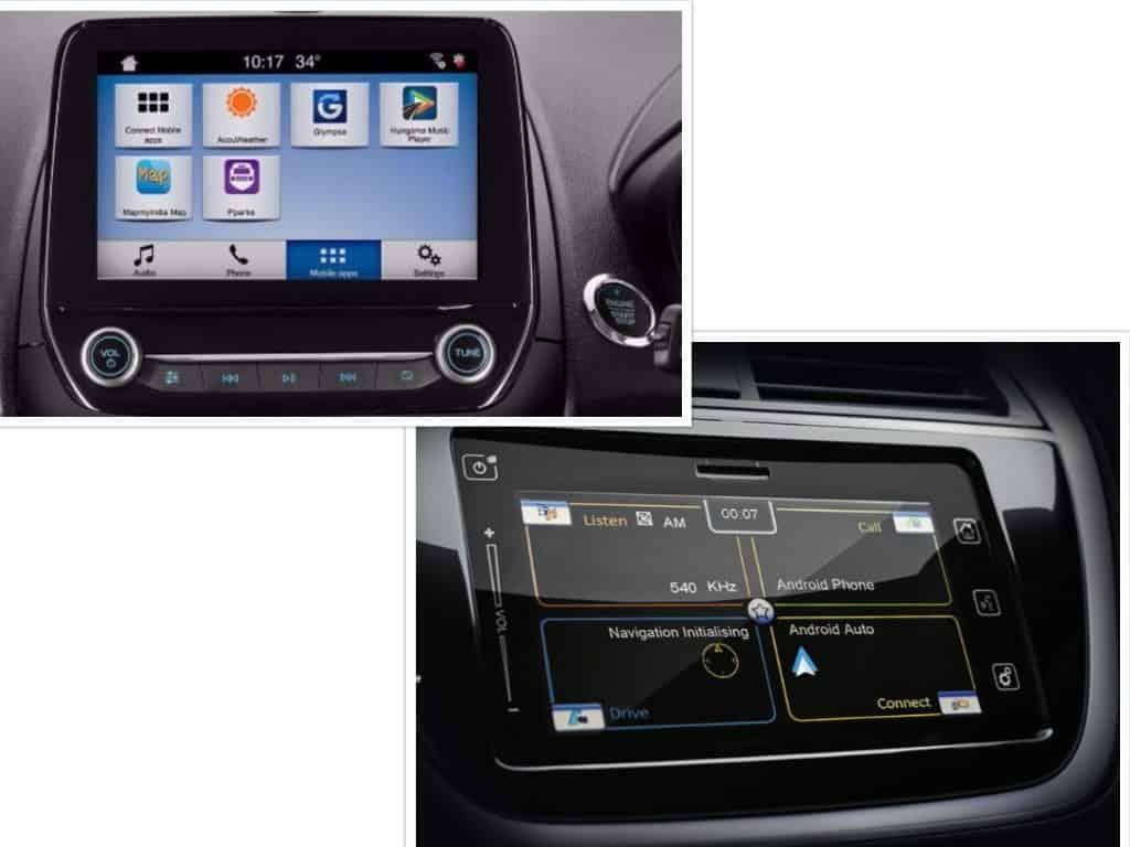 Ford EcoSport vs S Cross Maruti Touchscreen Infotainment