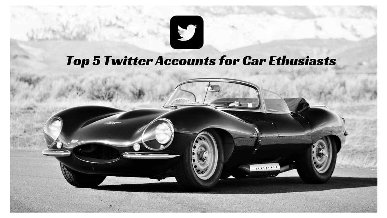 top 5 twitter accounts for car enthusiasts