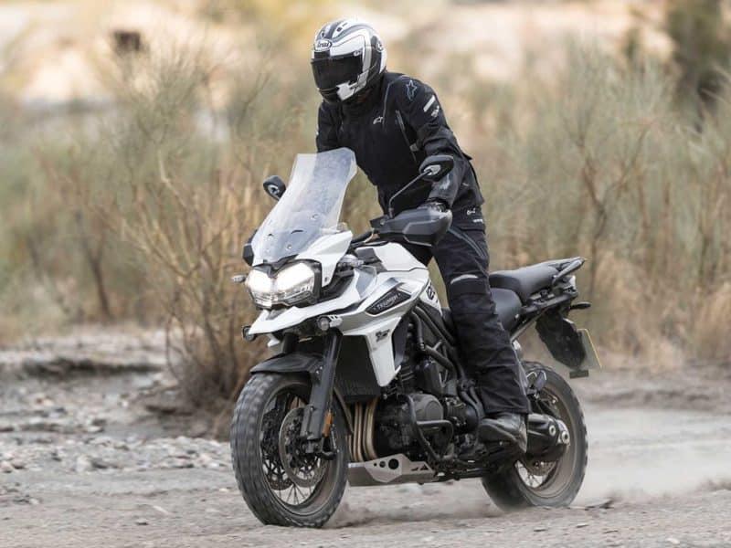 Tiger 1200 adventure motorcycle