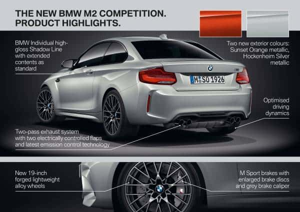BMW M2 Competition rear changes