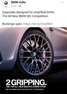 BMW m2 competition bookings open