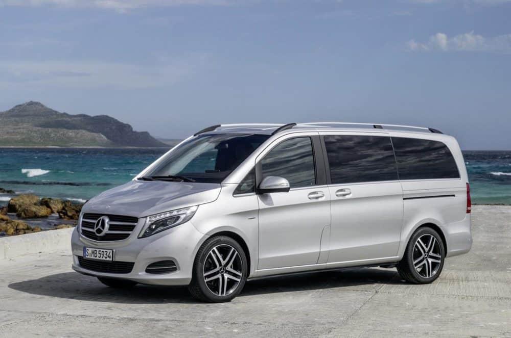 mercedes v-class luxury van