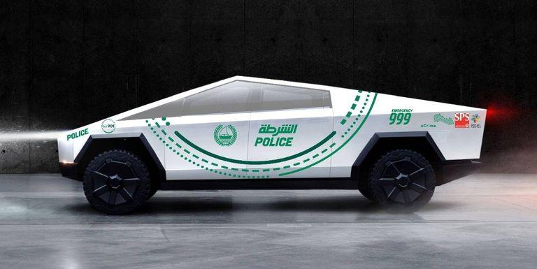 dubai police cybertruck