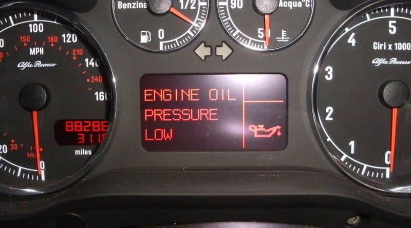 low oil pressure warning