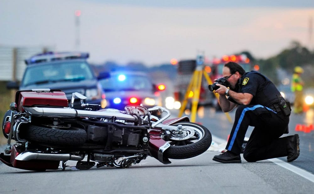 motorcycle accident on highway